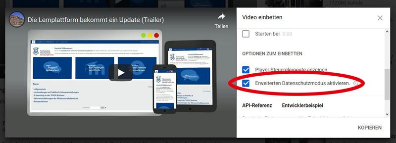 """Screenshot der """"Erweiterten Datenschutzeinstellung"""""""